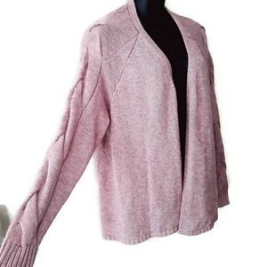 Lane Bryant Blush Pink Sweater Cardigan Size 3x